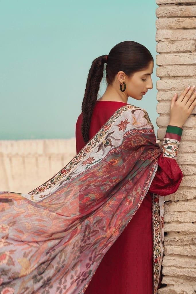 TENA DURRANI | Embroidered Lawn Suits | Cherry