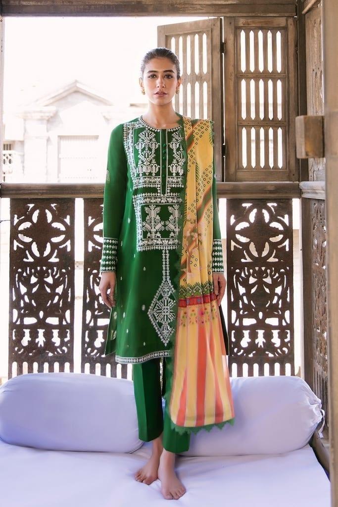 ZAHA LAWN | Embroidered Lawn Suits | BISHA (ZL21-11 B)