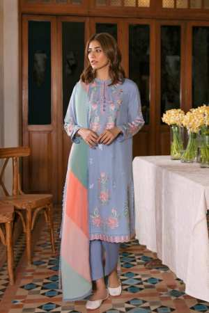 ZAHA LAWN | Embroidered Lawn Suits | ABR (ZL21-13 A)
