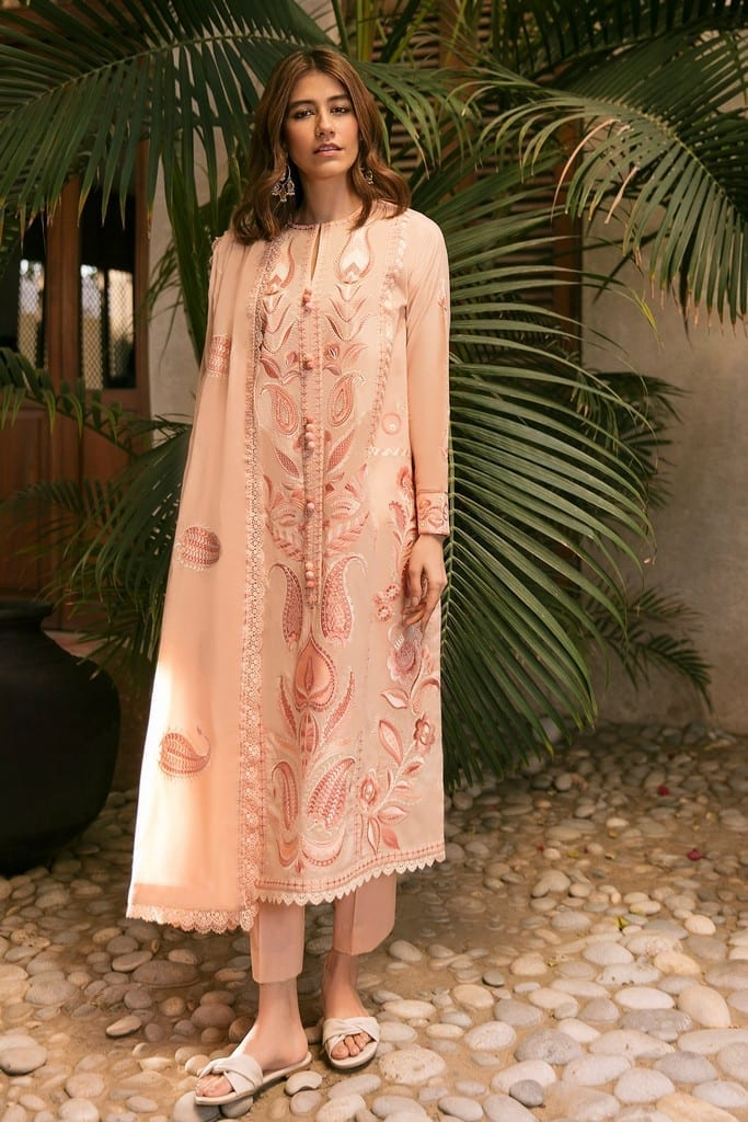 ZAHA LAWN | Embroidered Lawn Suits | SAREH (ZL21-06 A)