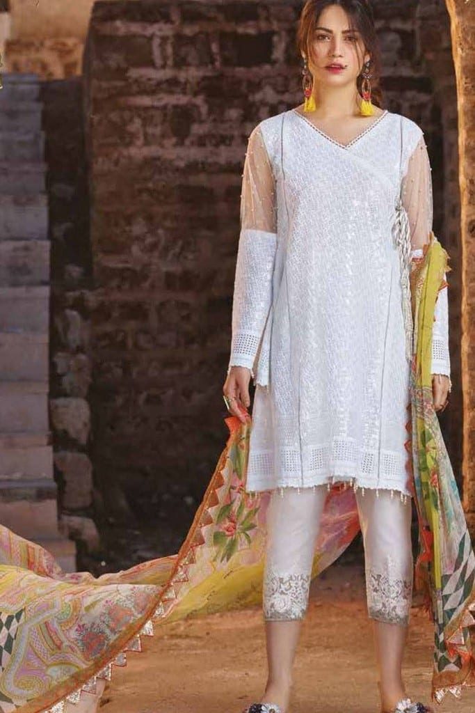 SAKURA BY NOOR | EMBROIDERED LAWN Collection | SK19SC-01S