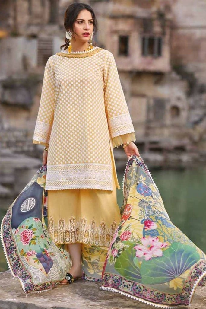 SAKURA BY NOOR | EMBROIDERED LAWN Collection | SK19SC-07S