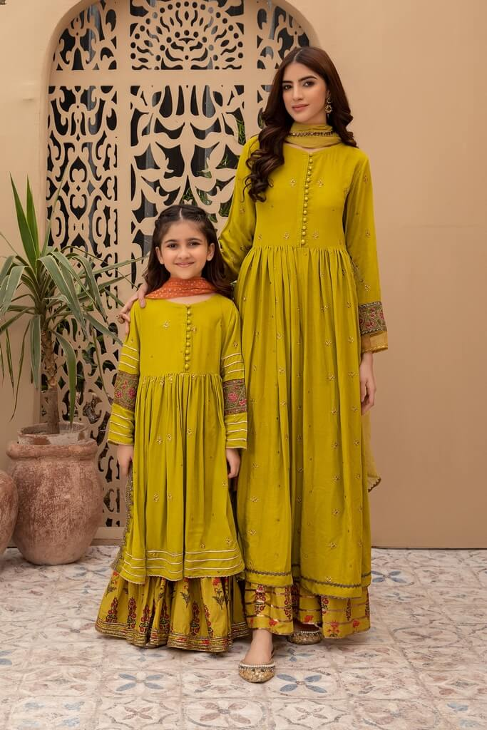 MARIA B | KIDS COLLECTION | Suit Lime Green MKD-EF20-22