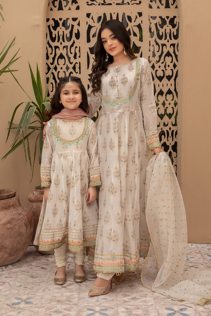 MARIA B MOMMY N ME | READY TO WEAR | Suit Off White MKD-EF21-02