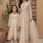 MARIA B | MOMMY N ME | READY TO WEAR | Suit Off White MKD-EF21-02