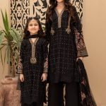MARIA B | MOMMY N ME | READY TO WEAR | Suit Black DW-EF21-05