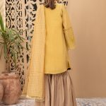 MARIA B | READY TO WEAR CASUAL  | Suit Mustard DW-EA20-03