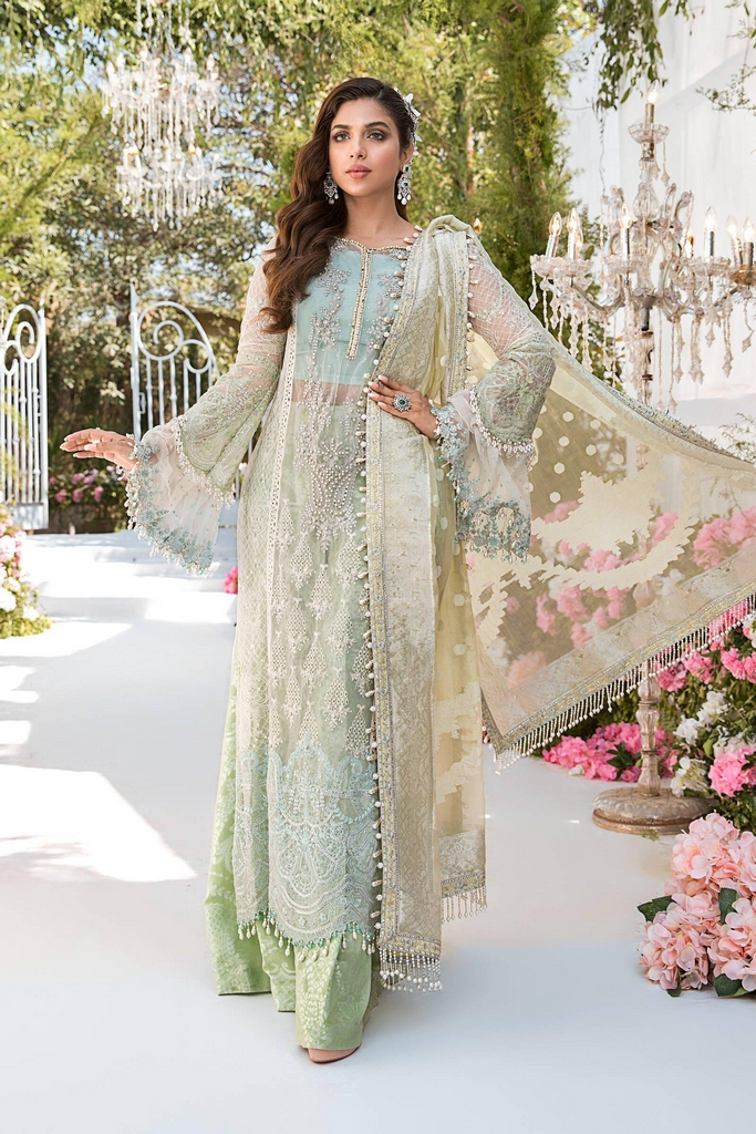 MARIA B | EMBROIDERED EID FESTIVE | Sky blue, Mint green and Lemon (BD-2102)