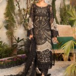MARIA B | MBROIDERED EID FESTIVE | Black and Coffee (BD-2106)