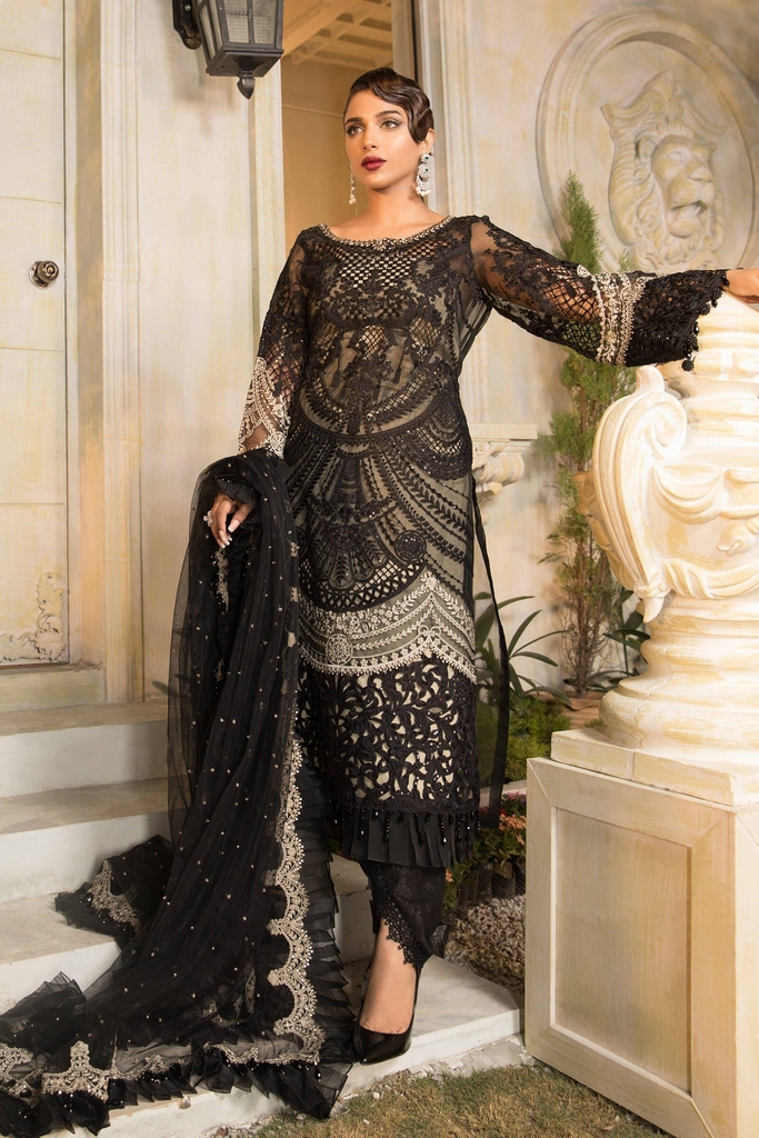 MARIA B | EMBROIDERED EID FESTIVE | Black and Coffee (BD-2106)
