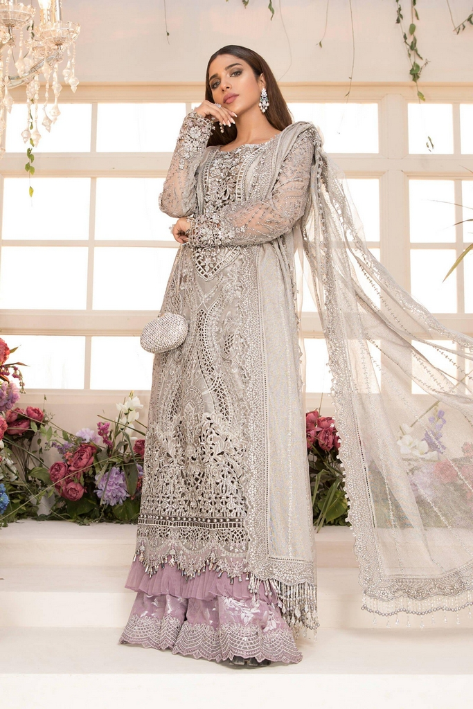 MARIA B | EMBROIDERED EID FESTIVE | Grey and Lilac (BD-2108)