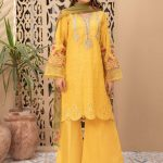 MARIA B | MOMMY N ME | READY TO WEAR | Suit Mustard DW-EF21-05