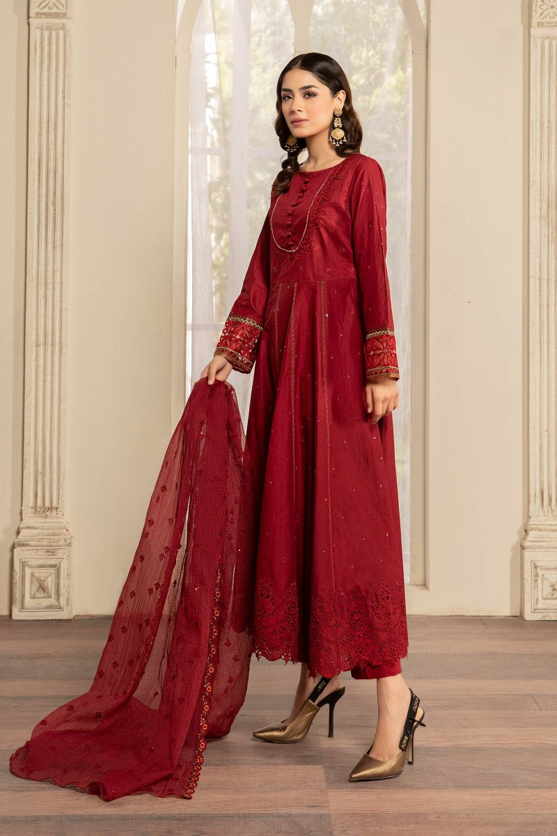 MARIA B | READY TO WEAR Collection | SUIT RED DW-EF21-07