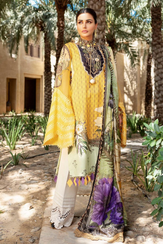 SHIZA HASSAN | LUXURY LAWN COLLECTION 2021 | 10-B LIYANA