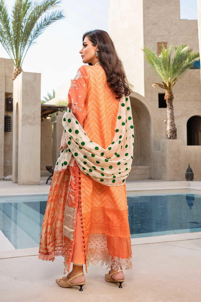 SHIZA HASSAN | LUXURY LAWN COLLECTION 2021 | 5-B PARIZA