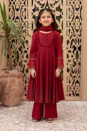MARIA B | KIDS Collection | Suit Red MKD-EF21-22