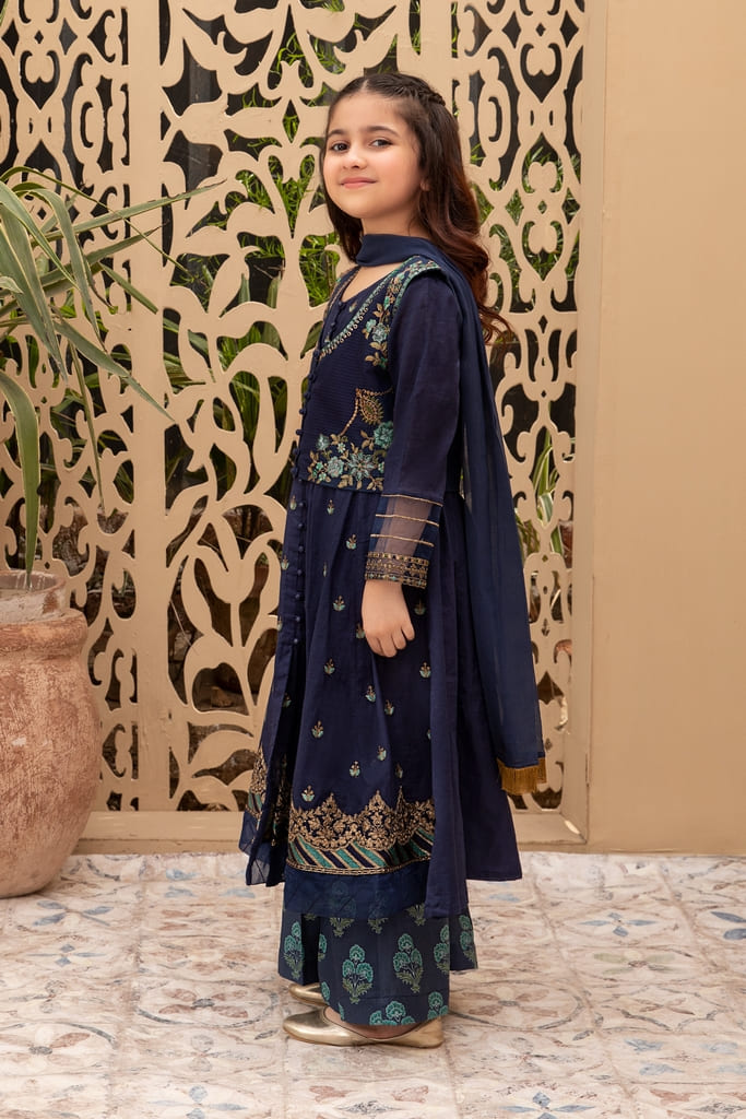 MARIA B   KIDS Collection   Suit Blue MKD-EF21-27