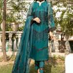 MAHUM ASAD | LUXURY FRENCH TRELLIS Collection'21 | TEAL ROSE