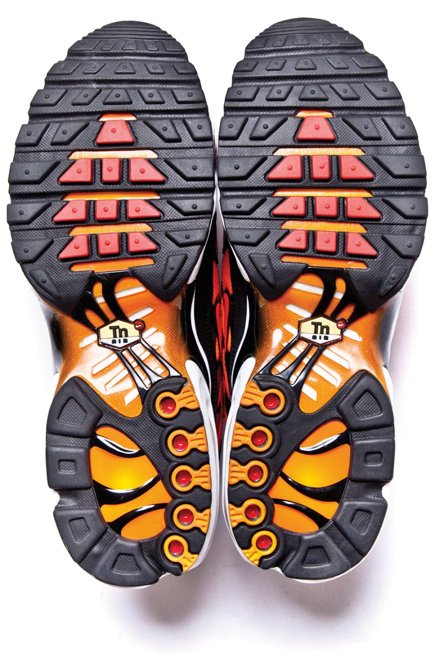 1998: Nike's Air Max Plus – aka the TN – in 'Orange Tiger'. First released in 98, then resurrected in 2013. Photograph: Taschen