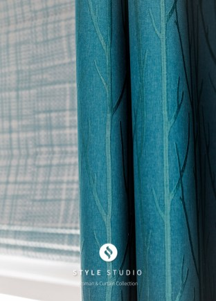 Sherwood-Teal-Curtain_Crosshatch-Cobalt-Roman