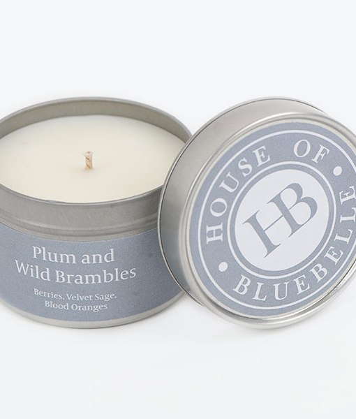 Tin Candles Plumb & Wild Brambles