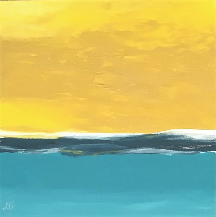 [SOLD] WHERE SUN MEETS SKY, 20x20