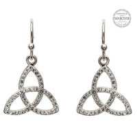 Celtic Trinity Knot Earrings Embellished with White ...