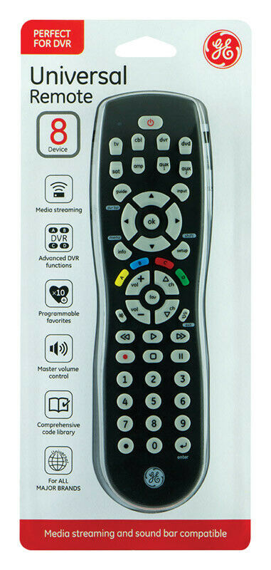Ge 8 Device Universal Remote Codes List : device, universal, remote, codes, JAS34929, 8-Device, Universal, Remote