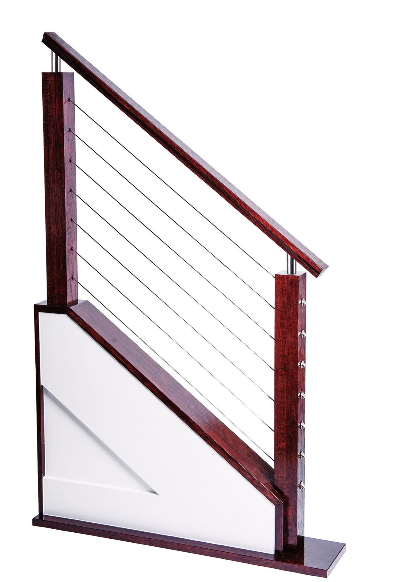 hight resolution of cable railing display