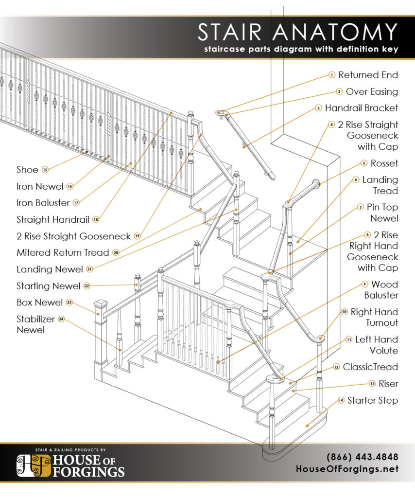 hight resolution of staircase anatomy