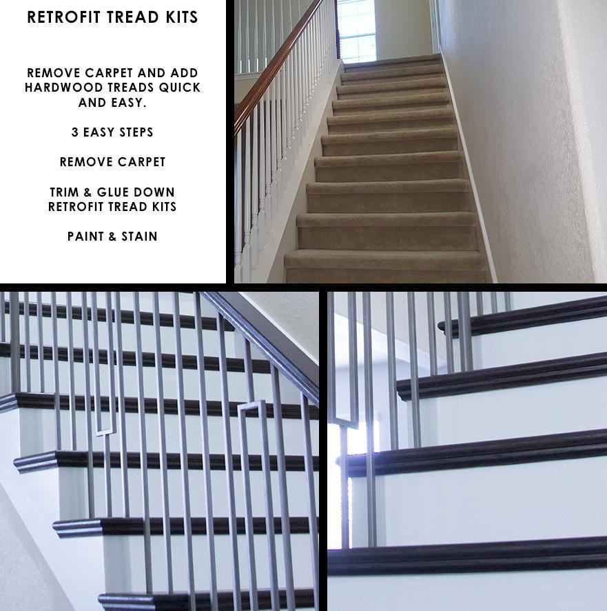 42″ Retrofit Tread Kit With Riser – House Of Forgings Stair And | 42 Oak Stair Treads | Stair Parts | Wood | White Oak Unfinished | Modern Retro | Lowes