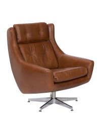 Linea Idaho swivel accent chair light brown