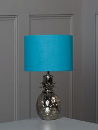 Linea Pineapple table lamp - teal - House of Fraser