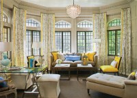 pops of yellow living room - House of Funk