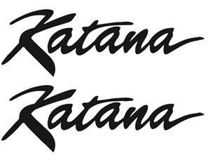 Motorcycle Bike Suzuki Katana decals decal stickers