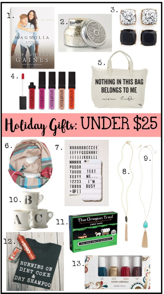 Christmas Gifts Under 25 Dollars