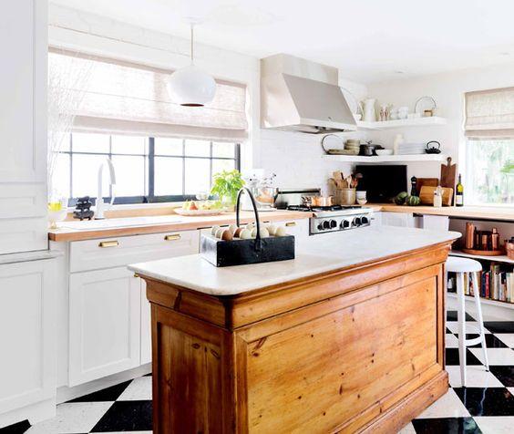 antique farmhouse kitchen cabinets Vintage Farmhouse Kitchen Islands: Antique Bakery Counter