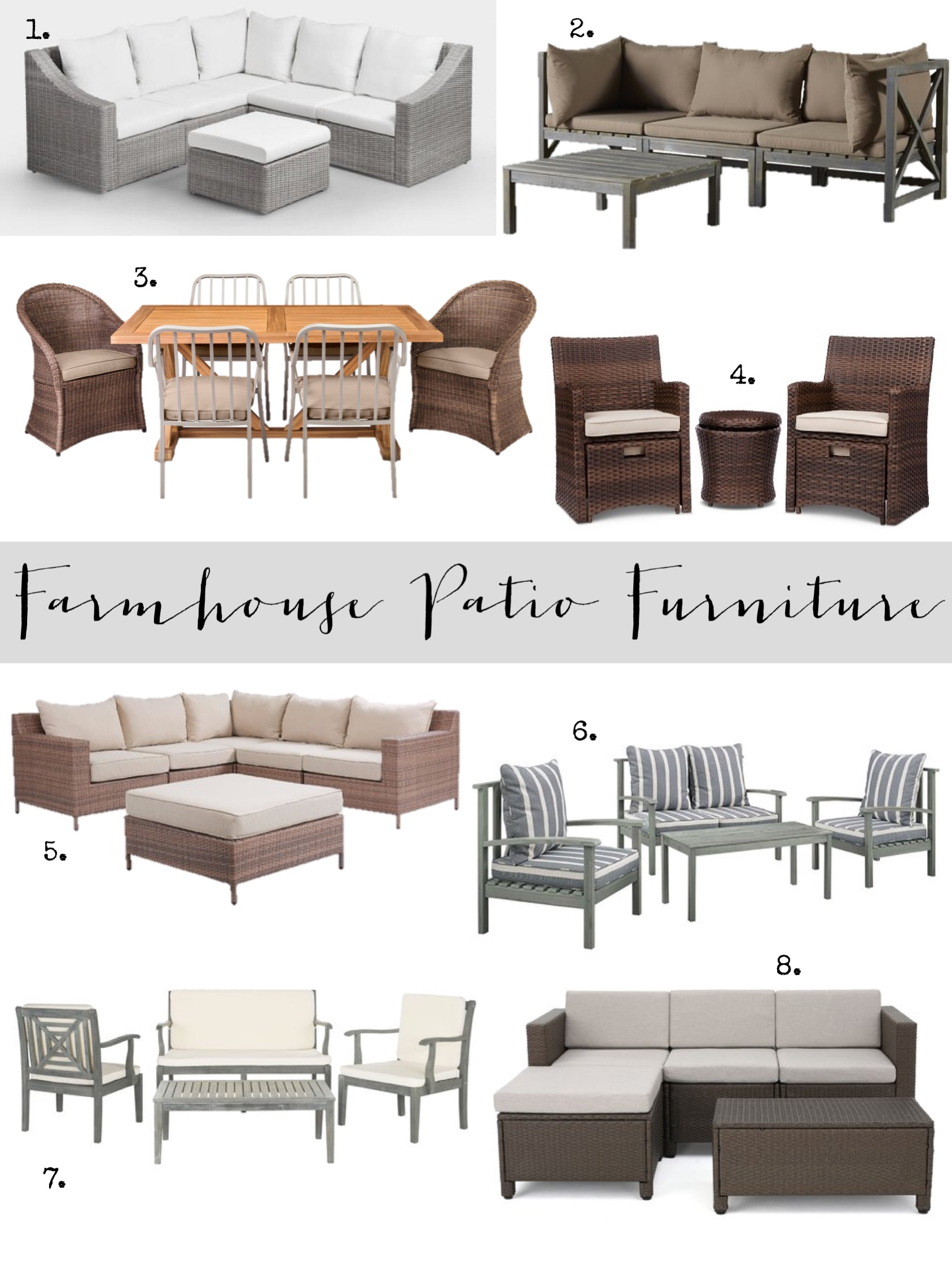 farmhouse patio furniture finds house