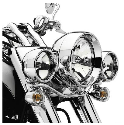 harley davidson deluxe auxiliary lighting kit for fl softail models 68669 05a