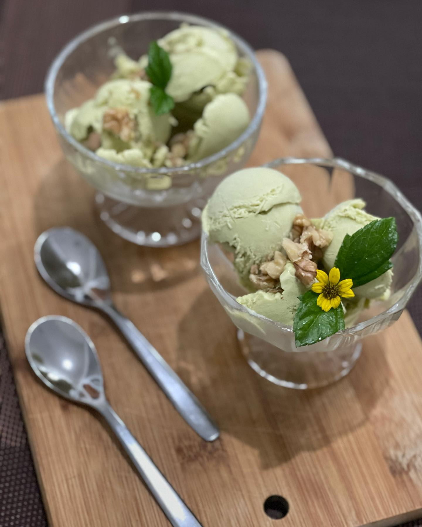Cool Dessert - No Churn Homemade Avocado Ice Cream  - House of Hazelknots