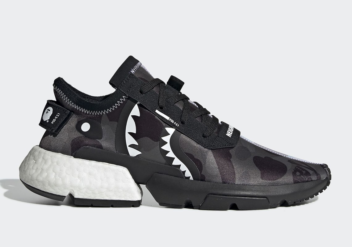 Official Looks at the BAPE x Neighborhood x adidas POD s3.1 - HOUSE OF HEAT   Sneaker News. Release Dates and Features
