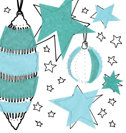 Illustration: Starts and Baubles