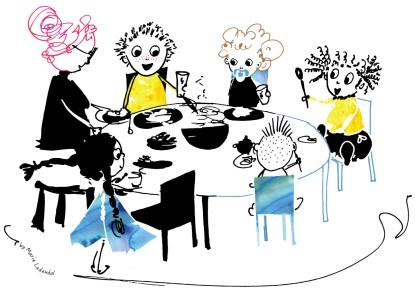 Illustration: Breakfast at Nursery
