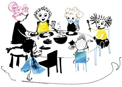 Illustration: Breakfast at Nursery