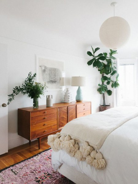 vintage bedroom ideas with plants White and Neutral Spaces - House Of Hipsters