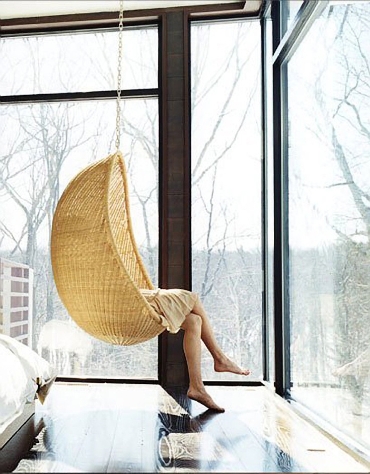 Design Crush The Rattan Hanging Chair  House Of Hipsters