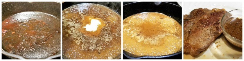 Peppercorn Pan Sauce for Steak
