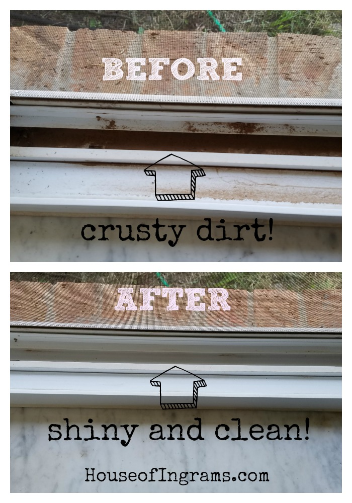 Cleaning Utterly Filthy Window Tracks