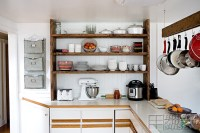 Our Open Farmhouse Kitchen Shelving