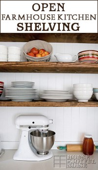 Our Open Farmhouse Kitchen Shelving | Before and After ...